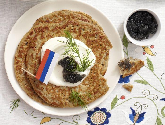 Rosyjskie Bliny Z Kawiorem
