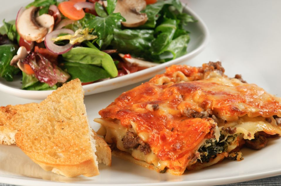 Lasagne Z Miesem I Szpinakiem
