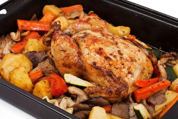 Kurczak Pieczony W Warzywach Przepis Na Kurczak Pieczony W
