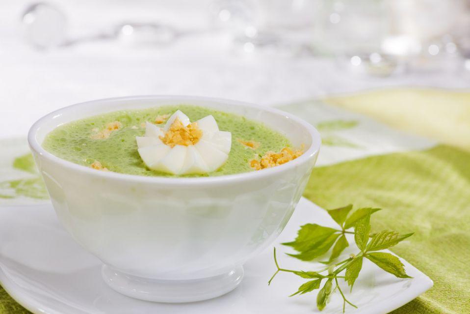 Zupa ze szpinakiem