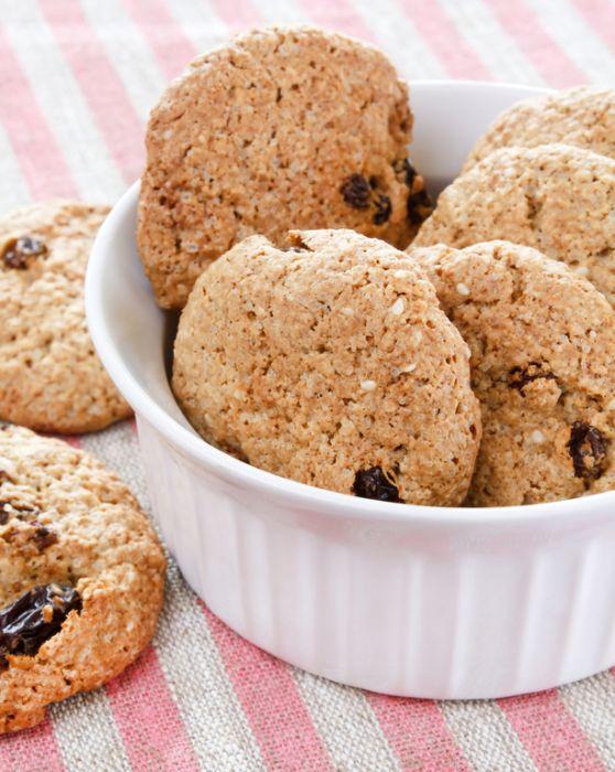 Диетическоесяное печенье с кефиром