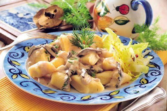Kopytka z sosem grzybowym