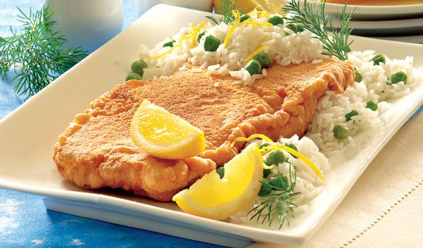 Ryba w cieście z ryżem