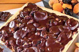 Mazurek bakaliowy z czekoladą