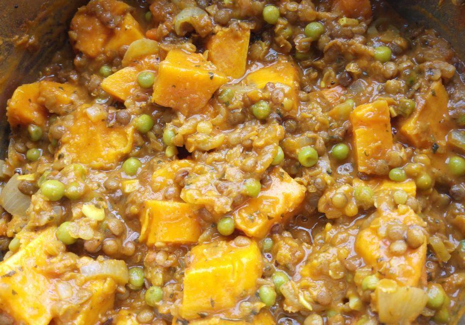 Warzywne Curry Z Zielonej Soczewicy I Batata
