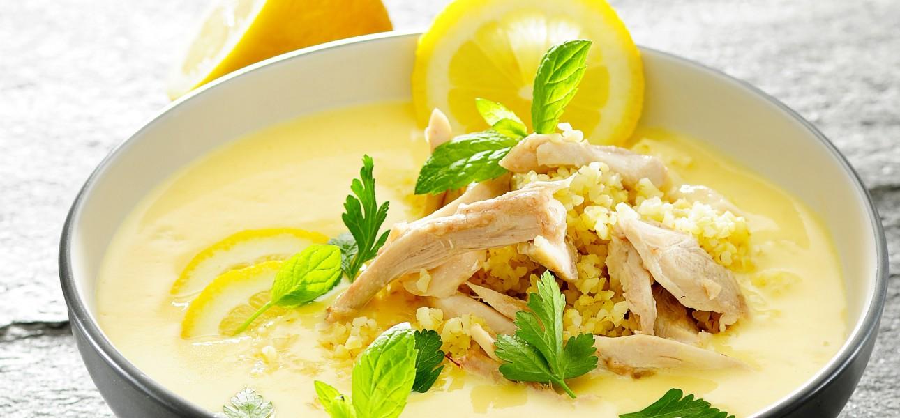 Krem cytrynowy z kurczakiem i kuskusem